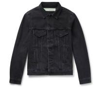 Slim-fit Printed Denim Jacket