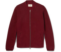 Garment-dyed Cotton-twill Bomber Jacket