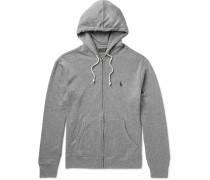 Loopback Cotton-blend Jersey Hoodie