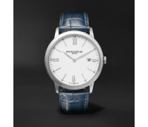 Classima 40mm Steel and Croc-Effect Leather Watch, Ref. No. 10508