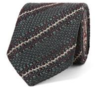 8cm Striped Virgin Wool, Silk And Linen-blend Tie