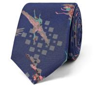 5.5cm Bird-print Silk Tie