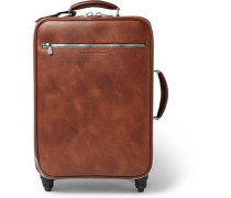 Burnished-leather Trolley Case