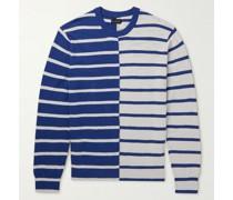 Striped Slub Cotton-Blend Sweater