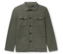 Cotton-Blend Shirt Jacket