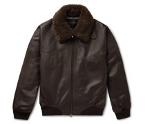 + Goodwood Shearling-Trimmed Leather Jacket