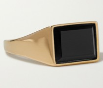 Lennox Gold Vermeil Onyx Ring