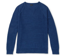 Mélange Cotton-jersey Sweater
