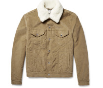 Beat Faux Shearling-trimmed Padded Stretch-corduroy Jacket