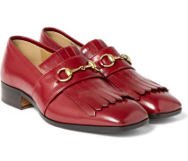 Gran Duca Horsebit Grained-leather Kiltie Loafers