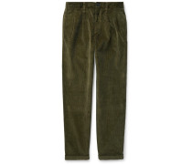 Wallace & Barnes Pleated Cotton-Corduroy Trousers