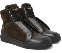 Atlas Suede And Leather High-top Sneakers