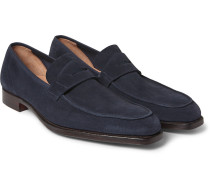 George Suede Penny Loafers