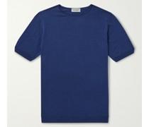 Cbeldon Merino Wool and Cotton-Blend T-Shirt