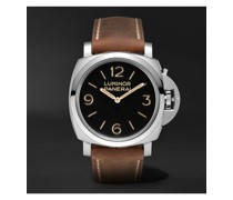 Luminor 1950 Hand-Wound 47mm Stainless Steel and Leather Watch, Ref. No. PAM00372