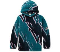 Oversized Fleece-Jacquard Hoodie