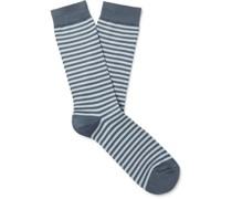 Striped Cotton-Blend Socks