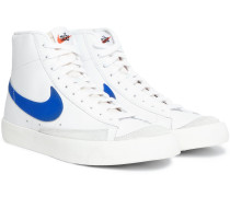Blazer Mid '77 Vintage Suede-Trimmed Leather Sneakers