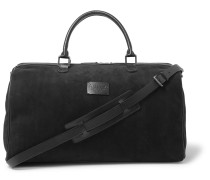 Boston Leather-Trimmed Suede Holdall