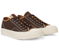 Skagway Leather-trimmed Cotton-canvas Sneakers
