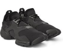 Kohna Suede-trimmed Neoprene Sneakers