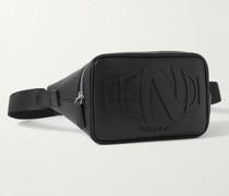 Logo-Embossed Leather Belt Bag