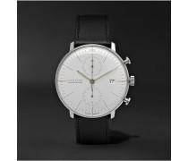 Max Bill Automatic Chronoscope 40mm Stainless Steel and Leather Watch, Ref. No. 027/4600.04