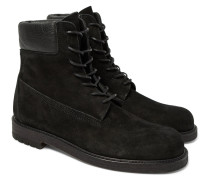 Mip-14 Leather-trimmed Suede Boots