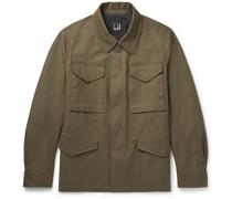 Cotton-Blend Gabardine Field Jacket