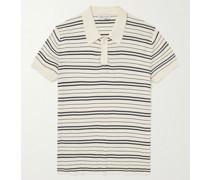 Slim-Fit Striped Cotton Polo Shirt