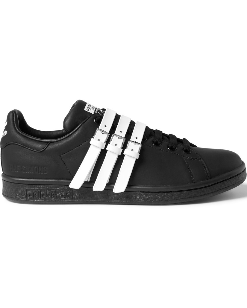 raf simons herren adidas stan smith leather sneakers. Black Bedroom Furniture Sets. Home Design Ideas