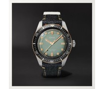 + Momotaro Divers Sixty-Five Limited Edition Automatic 40mm Bronze, Stainless Steel and Denim Watch, Ref. No. 01 733 7707 4337-Set