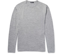 T By Alexander Wang Oversized Mélange Merino Wool Sweater