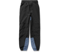 Two-tone Cotton-blend Gabardine Sweatpants