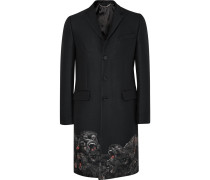 Monkey Brothers Slim-fit Embroidered Woven Coat