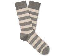 Byram Striped Stretch Cotton-Blend Socks