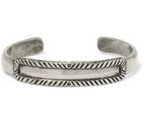 Jesse Robbins Engraved Sterling Silver Cuff