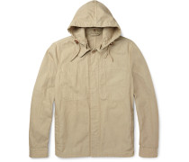 Cotton And Linen-blend Hooded Jacket