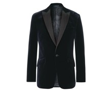 Fawn Slim-Fit Grosgrain-Trimmed Cotton-Velvet Tuxedo Jacket