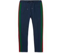Tapered Wool And Mohair-blend Twill Drawstring Trousers