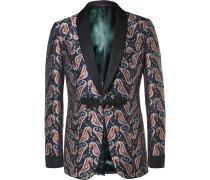Blue Paisley Jacquard Tuxedo Jacket