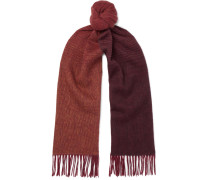 Dizzy Houndstooth Fringed Wool And Cashmere-blend Scarf