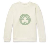 + Nba Boston Celtics Printed Brushed-cashmere-blend Sweatshirt