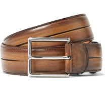 Brown Polished Venezia Leather Belt