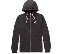 Legacy Mélange Loopback Cotton-jersey Zip-up Hoodie