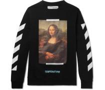 Mona Lisa Printed Fleece-back Cotton-jersey Sweatshirt
