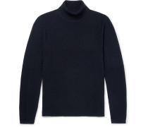 Cotton-blend Piqué Rollneck Sweater
