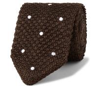 7cm Polka-Dot Knitted Silk Tie