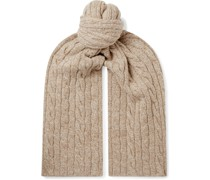 Cable-Knit Mélange Baby Cashmere Scarf
