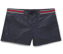 Webbing-trimmed Short-length Swim Shorts